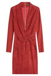 Jitrois Suede Dress Red