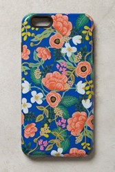 Anthropologie Gardenbloom Iphone 6 And 6 Plus Case Blue Motif