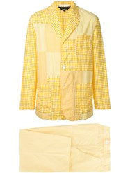 Comme Des Garcons Vintage Checkered Two Piece Suit Yellow And Orange