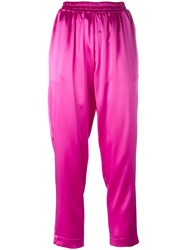 Gianluca Capannolo Satin Tapered Trousers Pink Purple
