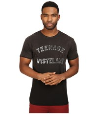 The Original Retro Brand Teenage Wasterland Short Sleeve Potassium Wash Tee Potassium Black Men's T Shirt