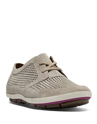 Cobb Hill Tamara Perforated Suede Sneakers Taupe