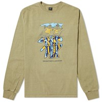 Brain Dead Long Sleeve Leon Tee Green