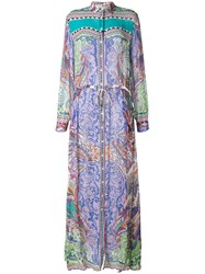 Etro Multi Print Shirt Maxi Dress