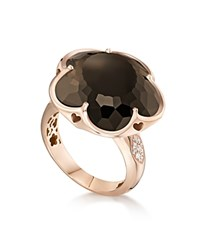 Pasquale Bruni 18K Rose Gold Floral Smoky Quartz Ring With Diamonds Rose White