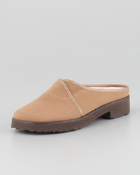 Taryn Rose Tesse Stretch Slip On Mule Camel