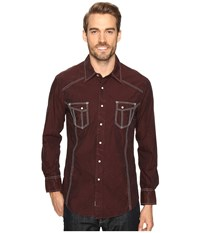 Rock And Roll Cowboy Long Sleeve Snap B2s8418 Rust Men's Clothing Red