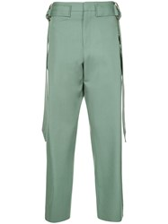 Wooyoungmi Belted Wide Trousers Green