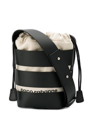 Paco Rabanne Strappy Bucket Bag Black
