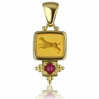 Tagliamonte Classics Collection 18K Gold And Ruby Pendant Amber