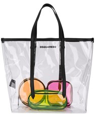 Dsquared2 Transparent Logo Tote White