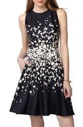 Donna Morgan Women's Floral Fit And Flare Dress