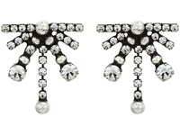 Dannijo Andi Earrings Ox Silver Clear