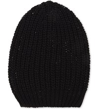 Rick Owens Knitted Medium Cotton Beanie Black