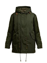 Mr And Mrs Italy Hooded Padded Parka Coat Green