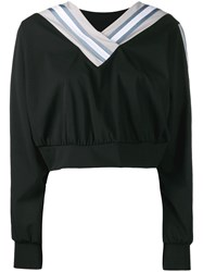 No Ka' Oi Cropped Sweatshirt Black