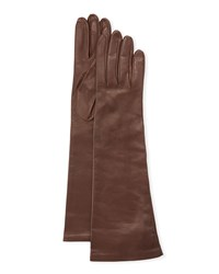 Portolano Long Napa Leather Gloves Cork