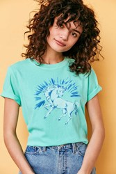 Silence And Noise Unicorn Tee Green