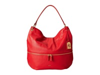 Lauren Ralph Lauren Meysey Hobo Poppy Hobo Handbags Red
