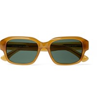 Dries Van Noten Square Frame Polished Acetate Sunglasses Tan