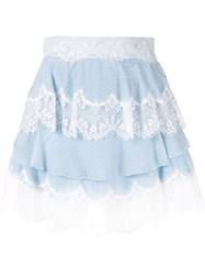 Alice Mccall Divine Sister Tiered Lace Skirt Blue