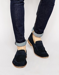 Selected Homme Ley Suede Loafers Blue
