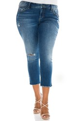 Slink Jeans Plus Size Women's Frayed Crop Skinny