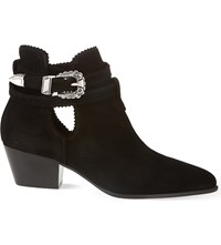 Sandro Suede Ankle Boots Noir