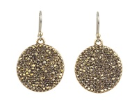 Lucky Brand Gold Pave Disk Earring Gold Earring