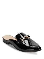 Kate Spade Cece Too Point Toe Patent Leather Mules Black