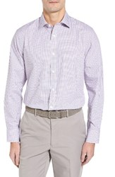 Nordstrom Men's Big And Tall Men's Shop Smartcare Tm Spread Check Sport Shirt Red Sauce White Check