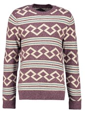 Abercrombie And Fitch Spring Jumper Washed Burgundy Brown