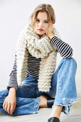 Urban Outfitters Icelandic Rib Scarf Ivory
