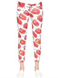 Sangue Bell Pepper Printed Cotton Denim Jeans
