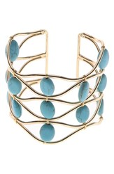 Nakamol Design Magnesite Wire Cuff Turquoise