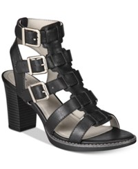 White Mountain Gemmy Block Heel Dress Sandals Women's Shoes Black