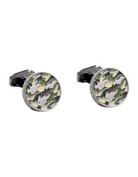 Thompson London Cufflinks And Tie Clips Green