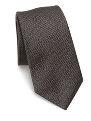 Theory Textured Silk Tie Deep Titanium
