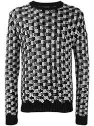 Balmain Cable Knit Jumper Men Acrylic Polyamide Polyester Viscose S Black