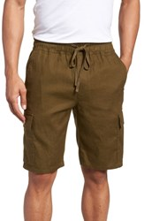 Vince Stretch Linen And Cotton Cargo Shorts Foliage