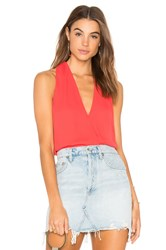 Krisa Surplice Tank Top Red