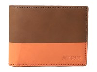 Jack Spade Dipped Leather Slim Billfold Tobacco Orange Bill Fold Wallet