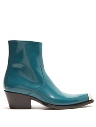 Calvin Klein 205W39nyc Tex Chiara Leather Ankle Boots Green