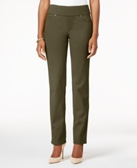 Charter Club Cambridge Pull On Slim Leg Jeans Created For Macy's Autumn Sage