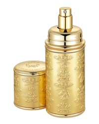 Logo Etched Leather Atomizer Gold Gold Creed