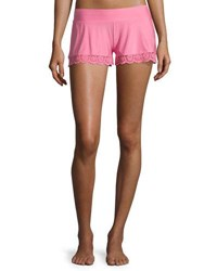 Commando Butter Lace Trimmed Lounge Shorts Medium Pink