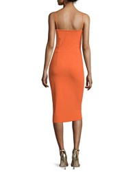 La Petite Robe Di Chiara Boni Dionella Sleeveless Sheath Cocktail Dress Arancio