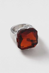 Topshop Red Glass Stone Ring