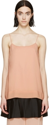Cedric Charlier Pink Pleated Hem Tank Top