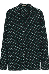 Bottega Veneta Polka Dot Silk Shirt Black
